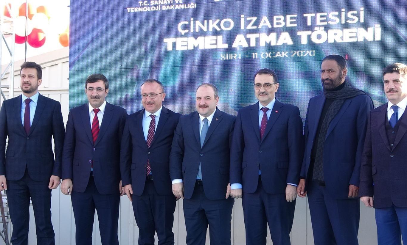 Türkiye'nin 'tek çinko, metal ve külçe üretimini yapacak' tesisin temeli atıldı